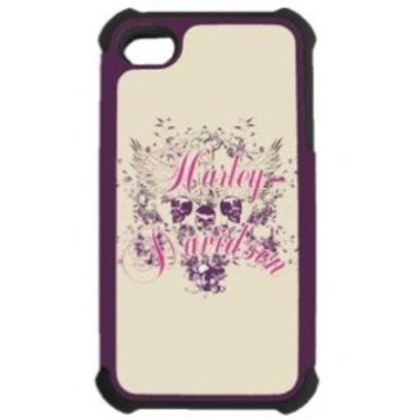 H-D HEAVY DUTY RUGGED SHELL - iPHONE 4 SKULL DESIGN