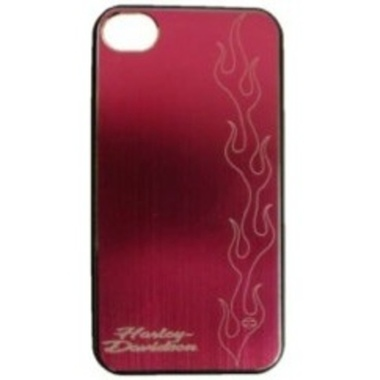 H-D ALUMINIUM  SHELL - iPHONE 4 ETCHED FLAME DESIGN