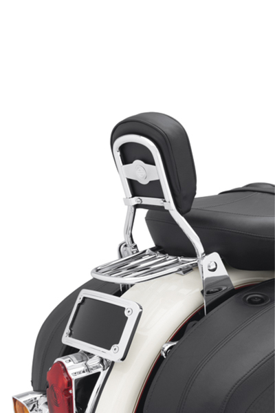 Low Mini-Medallion Style Sissy Bar Upright