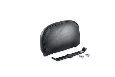 Passenger Backrest Pad - Compact - Smooth Black Vinyl