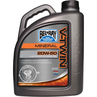 Bel-Ray V-TWIN MOTOR OIL 20W-50 4 L MINERAALI