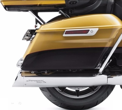 Screamin Eagle Street Cannon Performance Slip-On Mufflers. ECE