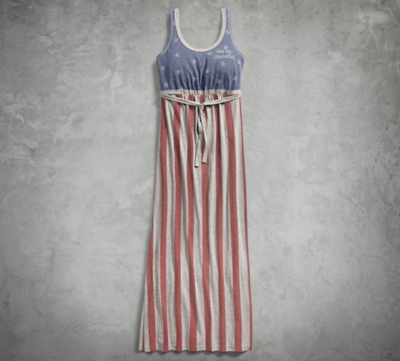 STARS & STRIPES AMERICANA MAXI DRESS