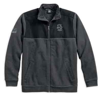 FLEECE-FULL ZIP,GRY