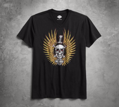 TEE-B/L, S/S,SKULL WRENCHES