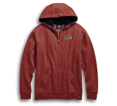 HOODIE-ENGINE,ZIP,RED