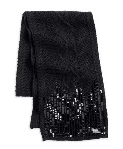 SCARF-KNIT W/ SEQUIN