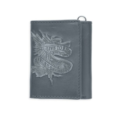 WALLET-LIVETORIDE,TRIFOLD,BLACK