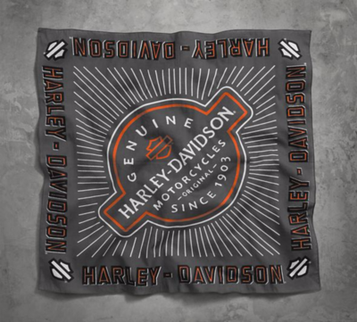 BANDANA-GENUINE,SINCE1903,GREY