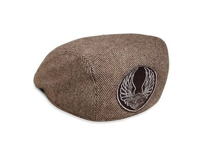 CAP-WASHED IVY,WOOL BLEND,BROWN