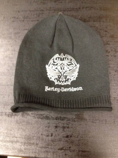 BEANIE-KNIT,EMBELLISHED,BL