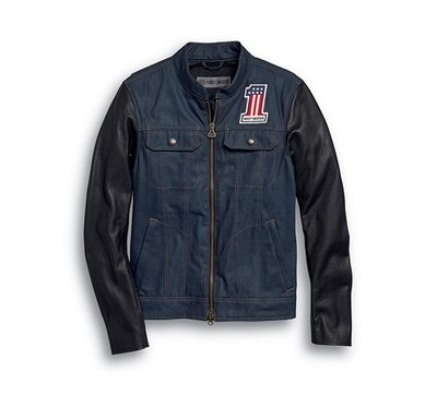Arterial Abrasion-Resistant Slim Fit Denim Riding Jacket