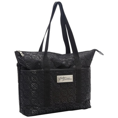 SHOPPER TOTE- BLACK LOGO