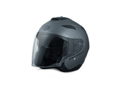 HELMET-3/4,MAYWOOD,SUNSHIELD MAT GREY