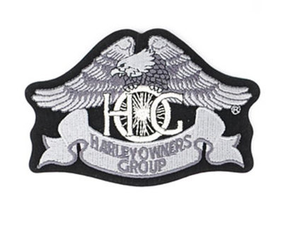 Small Silver Eagle Patch