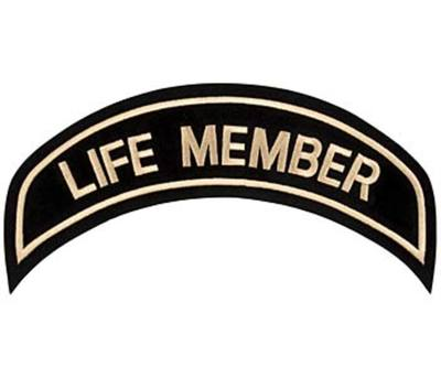 Large Life Member Patch