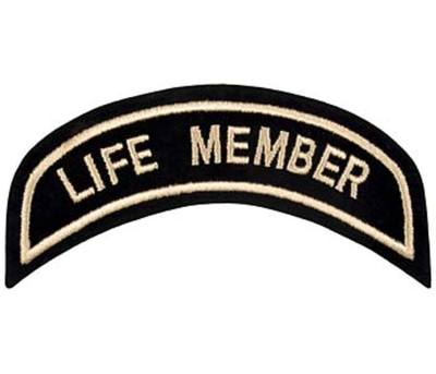 Small Life Member Patch