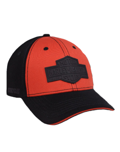 BALLCAP, LONG B&S, BLACK&ORANGE