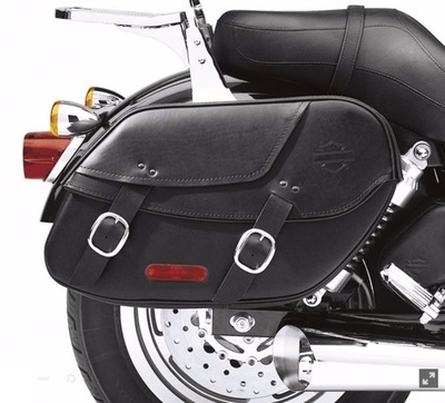Bar & Shield Leather Saddlebag