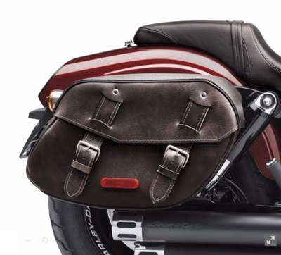Distressed Leather Saddlebags