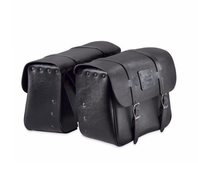 Express Rider Large Capacity Leather Saddlebags