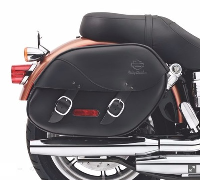 Detachables Leather Saddlebags for Dyna Models