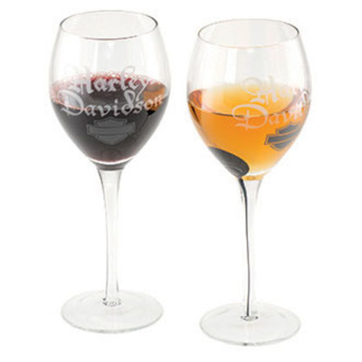 H-D SILHOUETTE B&S WINE GLASS SET