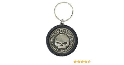 KEYCHAIN, HUBCAP PVC&ANTIQUED NICKEL
