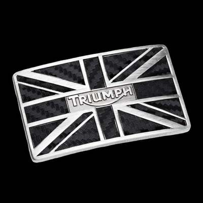 CARBON UNION FLAG BUCKLE
