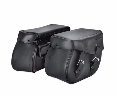Synthetic Leather Saddlebags for Softail Models