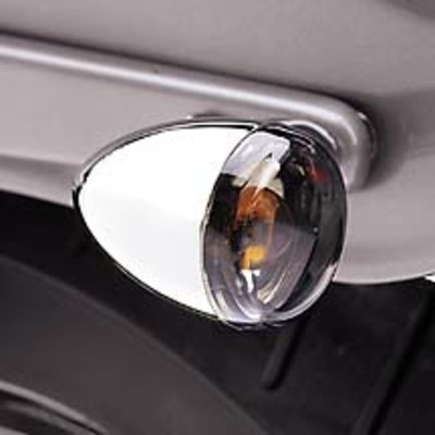 Smoked Turn Signal Lens Kit - Bullet Lens