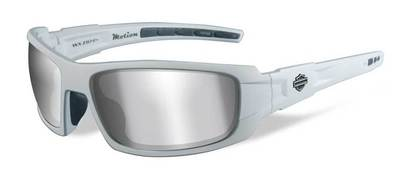 H-D MOTION GREY SILVER FLASH MATTE WHITE FRAME