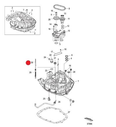 MERCURY HIGH PRESSURE FUEL FILTER F80-115